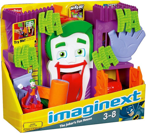 Fisher Price DC Super Friends Imaginext The Joker's Fun House 3-Inch Figure Set