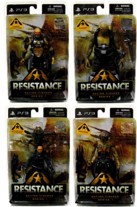 Resistance Series 1 Chimera Advanced Hybrid, Nathan Hale, Ravager & Steelhead Set of 4 Action Figures
