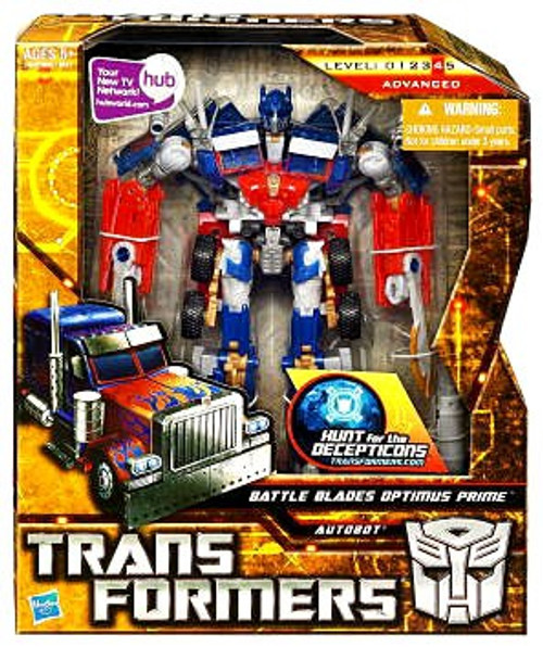 Transformers Hunt for the Decepticons Battle Blades Optimus Prime Voyager Action Figure