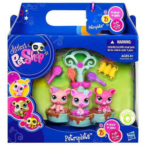 Littlest Pet Shop Petriplets Pig Figure 3-Pack