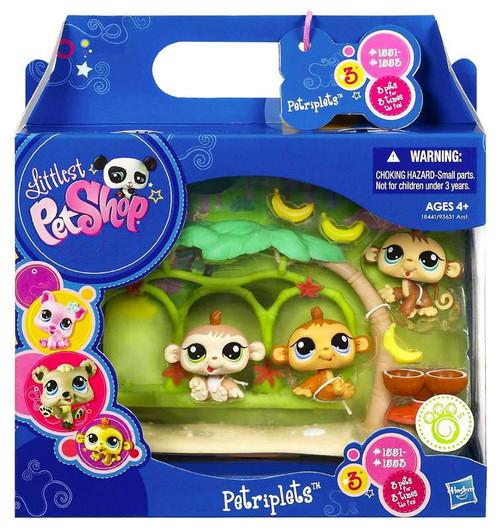 Littlest Pet Shop Petriplets Monkey Figure 3-Pack