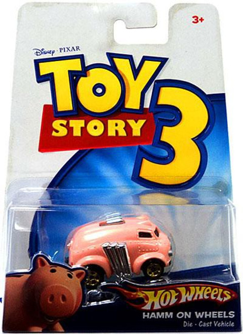 Toy Story 3 Hot Wheels Hamm On Wheels Diecast Car