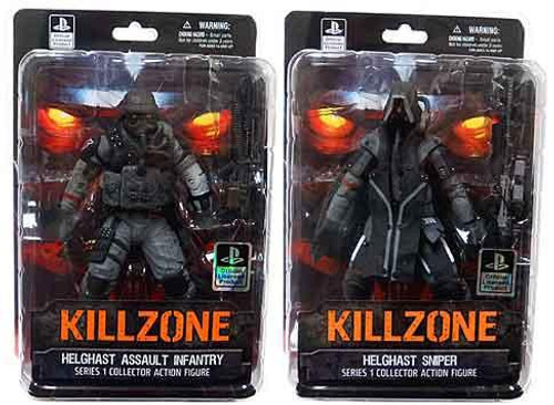 Killzone Series 1 Helghast Assault Infantry & Sniper Set of Both Action Figures