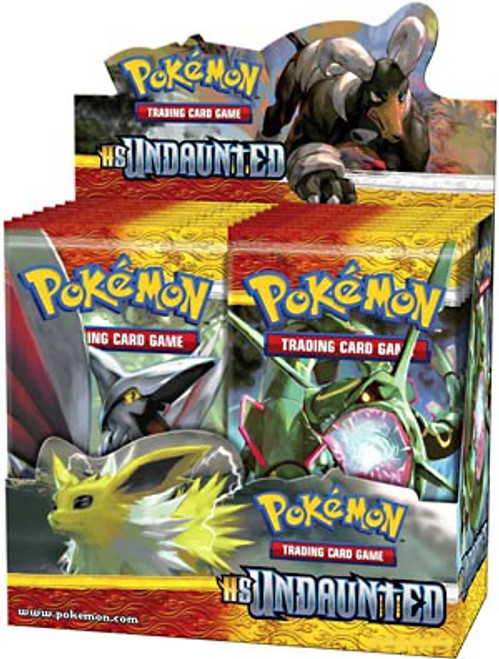 Pokemon Trading Card Game HeartGold SoulSilver Undaunted Booster Box [36 Packs]