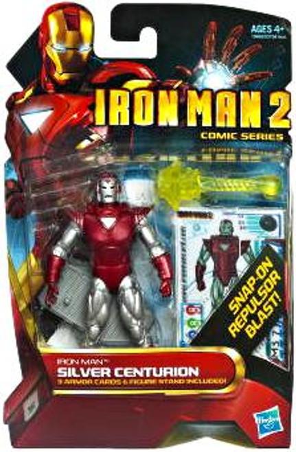 Iron Man 2 Comic Series Iron Man Silver Centurion Action Figure #34