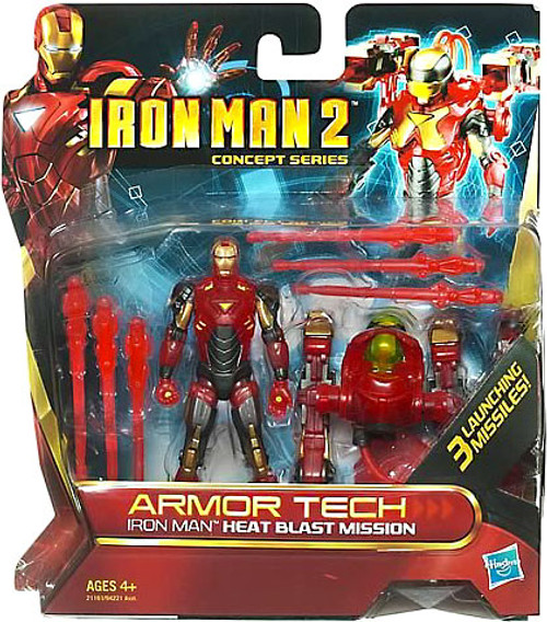 Iron Man 2 2 Concept Series Armor Tech Iron Man Heat Blast Mission Action Figure