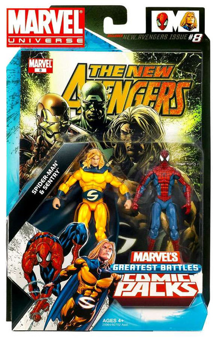Marvel Universe Sentry & Spider-Man Action Figure 2-Pack