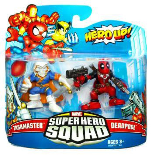 Marvel Super Hero Squad Series 19 Taskmaster & Deadpool 3-Inch Mini Figure 2-Pack