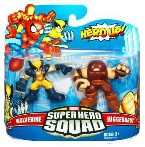 Marvel Super Hero Squad Series 19 Wolverine & Juggernaut 3-Inch Mini Figure 2-Pack