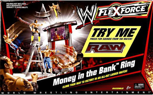 WWE Wrestling FlexForce Money in the Bank Ring Action Figure Playset