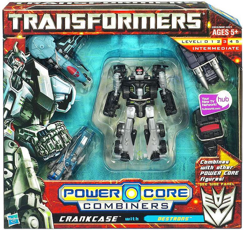 Transformers Power Core Combiners Crankcase with Destrons Action Figure 2-Pack