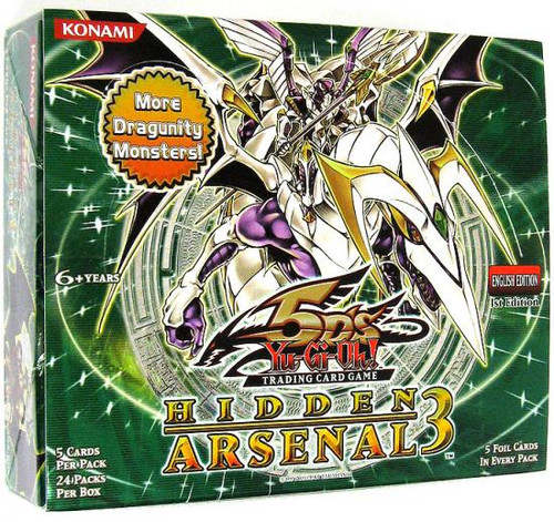 YuGiOh Trading Card Game Hidden Arsenal 3 Booster Box [24 Packs]
