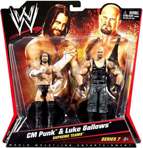 WWE Wrestling Battle Pack Series 7 CM Punk & Luke Gallows Action Figure 2-Pack