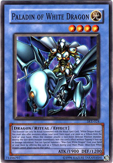 YuGiOh Kaiba Evolution Common Paladin of White Dragon SKE-024