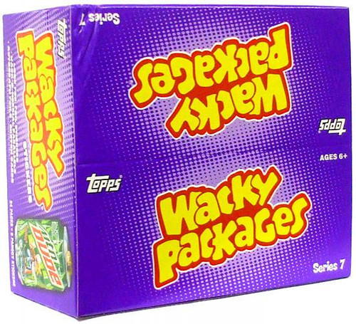 Wacky Packages Topps Series 7 Trading Card Sticker Box [24 Packs]