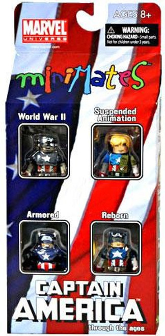 Marvel Universe Minimates Exclusives Captain America Through the Ages Exclusive Minifigure 4-Pack