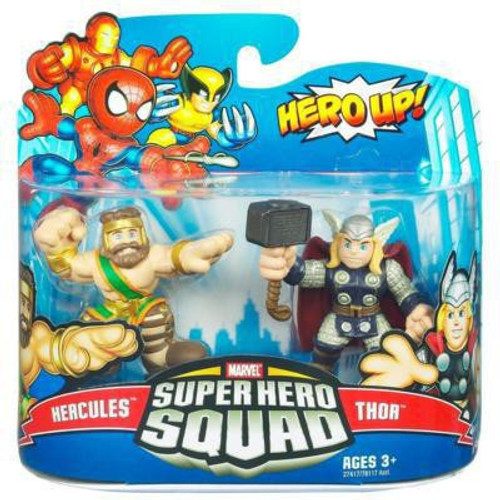 Marvel Super Hero Squad Series 20 Hercules & Thor 3-Inch Mini Figure 2-Pack