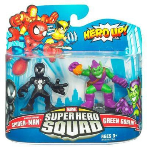 Marvel Super Hero Squad Series 20 Black Costume Spider-Man & Green Goblin 3-Inch Mini Figure 2-Pack