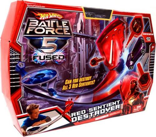Hot Wheels Battle Force 5 Fused Red Sentient Destroyer Playset