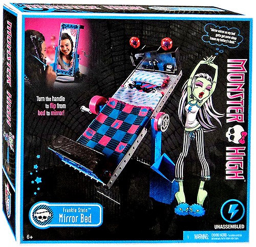 Monster High Frights, Camera, Action Frankie Stein's Mirror Bed 10.5-Inch
