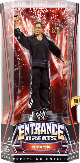 WWE Wrestling Entrance Greats The Rock Action Figure