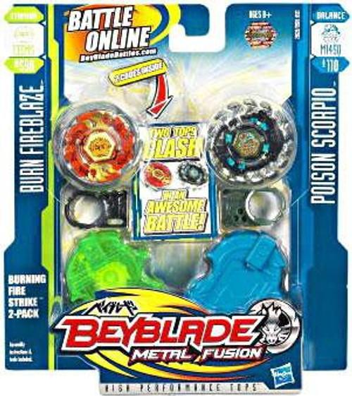 Beyblade Metal Fusion Burning Firestrike 2-Pack #2