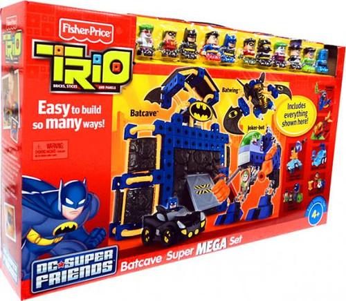 Fisher Price Trio DC Super Friends Batcave Super Mega Set