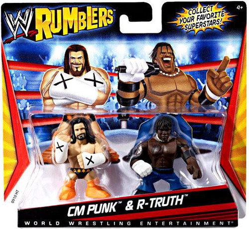 WWE Wrestling Rumblers Series 1 CM Punk & R-Truth Mini Figure 2-Pack