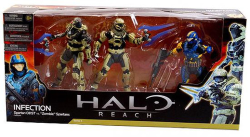 McFarlane Toys Halo Reach Infection Action Figure 3-Pack [Human Spartan & 2x Zombie Spartans]