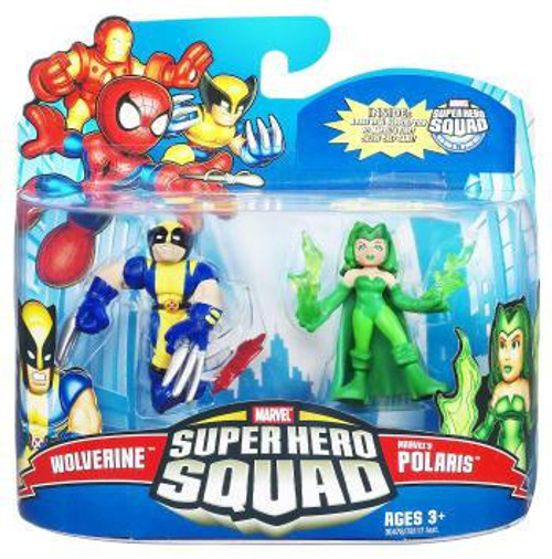 Super Hero Squad Series 21 Wolverine & Marvel's Polaris 3-Inch Mini Figure 2-Pack