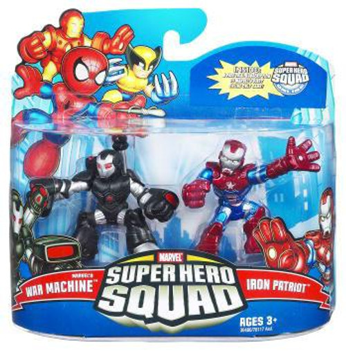Super Hero Squad Series 21 Marvel's War Machine & Iron Patriot 3-Inch Mini Figure 2-Pack