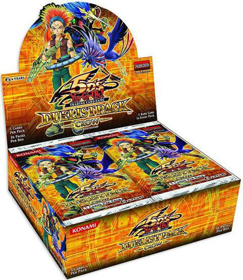 YuGiOh Trading Card Game Duelist Pack Crow Booster Box [36 Packs]