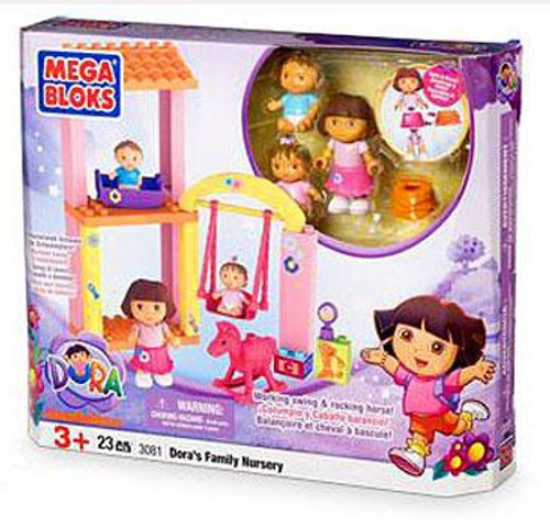 Mega Bloks Dora the Explorer Dora's Family Nursery Set #3081