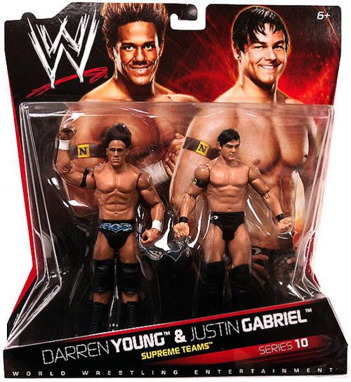 WWE Wrestling Battle Pack Series 10 Darren Young & Justin Gabriel Action Figure 2-Pack