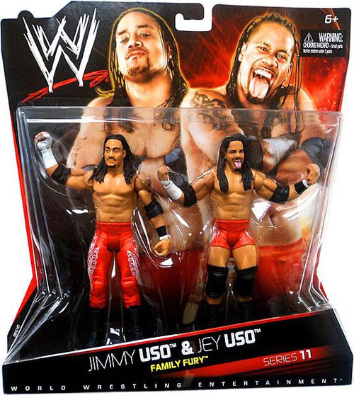 WWE Wrestling Battle Pack Series 11 Jimmy Uso & Jey Uso Action Figure 2-Pack