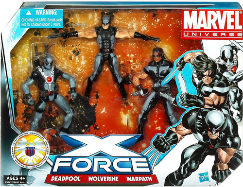 Marvel Universe Super Hero Team Packs X-Force Action Figure 3-Pack