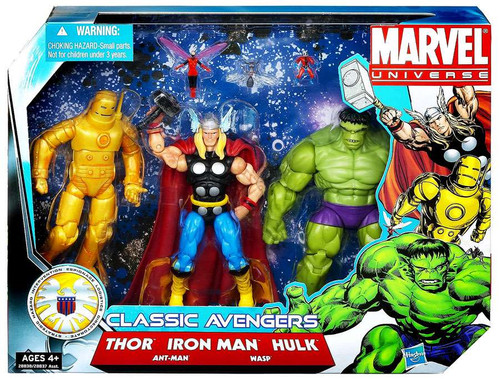 Marvel Universe Super Hero Team Packs Classic Avengers Action Figure 3-Pack