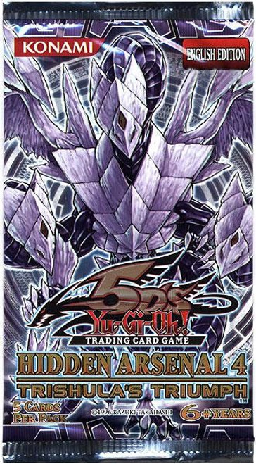 YuGiOh Trading Card Game Hidden Arsenal 4: Trishula's Triumph Booster Pack [5 Cards]