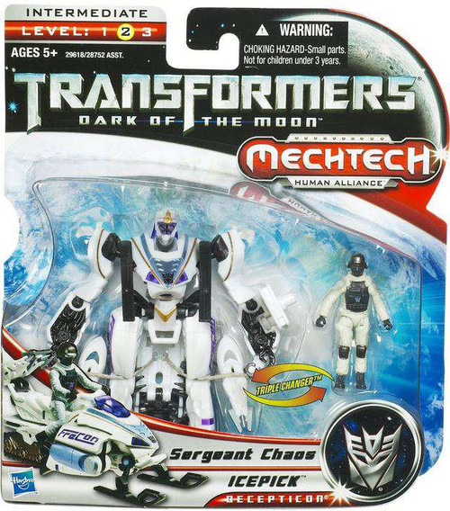 Transformers Dark of the Moon Mechtech Icepick with Sergeant Chaos Action Figure Set