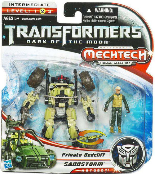 Transformers Dark of the Moon Mechtech Sandstorm with Private Dedcliff Action Figure Set