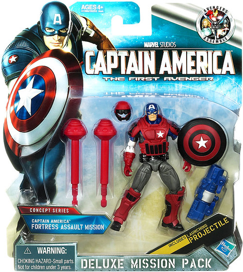 The First Avenger Deluxe Mission Pack Concept Series Captain America Fortress Assault Mission Action Figure