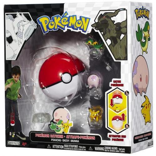 Pokemon Black & White Series 1 Catcher Pikachu, Snivy & Munna Figure 3-Pack