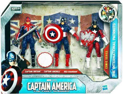 Captain America The First Avenger Concept Series The International Patriots Exclusive Action Figure 3-Pack
