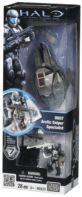 Mega Bloks Halo The Authentic Collector's Series ODST Artic Sniper Specialist Set #96925