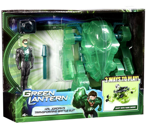 Green Lantern Movie Hal Jordan's Transforming Battle Suit Action Figure Playset