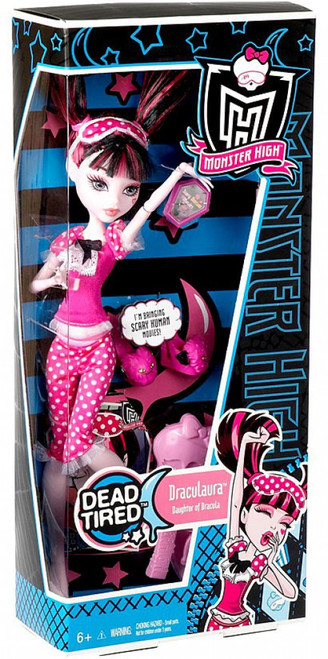 Monster High Dead Tired Draculaura 10.5-Inch Doll