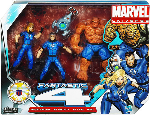 Marvel Universe Super Hero Team Packs Fantastic Four Action Figure 4-Pack [Classic Blue Costumes]