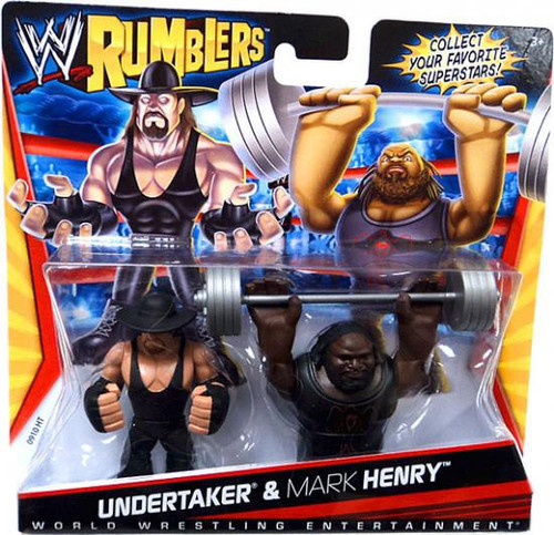 WWE Wrestling Rumblers Series 1 Undertaker & Mark Henry Mini Figure 2-Pack