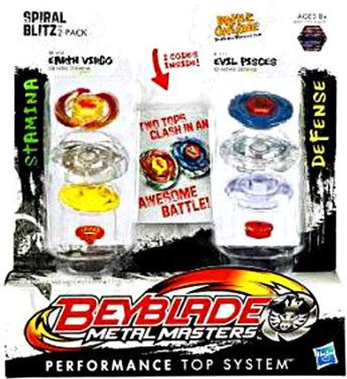 Beyblade Metal Masters Spiral Blitz 2-Pack