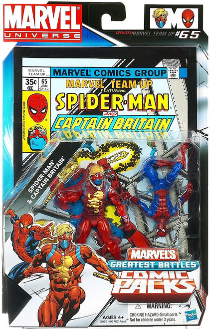 Marvel Universe Spider-Man & Captain Britain Action Figure 2-Pack
